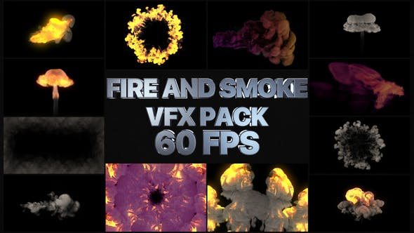 Thumbnail for Fire And Smoke VFX Pack | After Effects