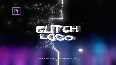 Glitch Bokeh Logo Intro
