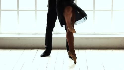 Low Section Ballet Couple Dancing