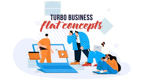 Thumbnail for Turbo Business - Flat Concept