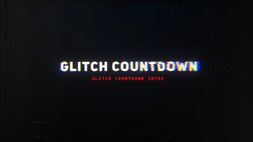 Glitch Countdown Intro Mogrt
