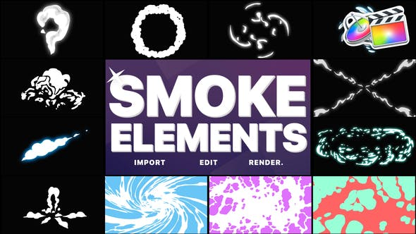 Thumbnail for Smoke Elements Pack 06 | FCPX