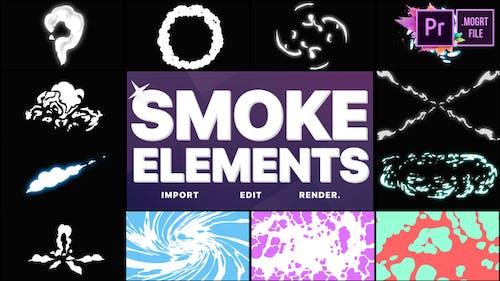 Smoke Elements Pack 06   Premiere Pro MOGRT