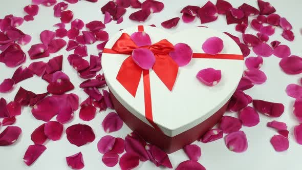 Thumbnail for Romantic Rose Petals And Beautiful Gift Box