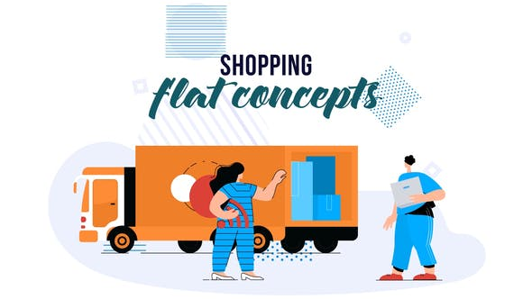 Thumbnail for Shopping - Flat Concept