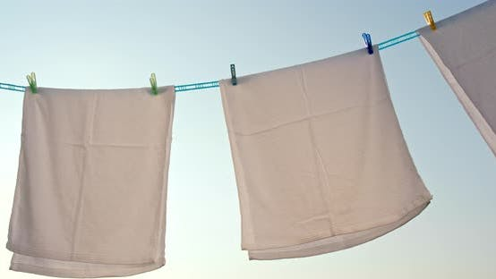 Thumbnail for Drying the white towel at outdoor