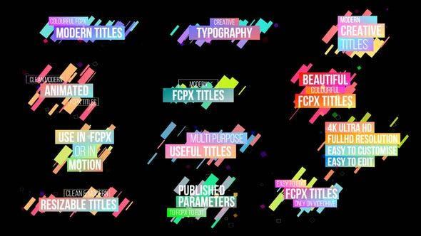 Creative Colourful Titles