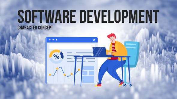 Thumbnail for Software development - Flat Concept