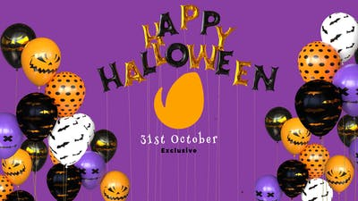 Happy Halloween Balloon Logo Reveal
