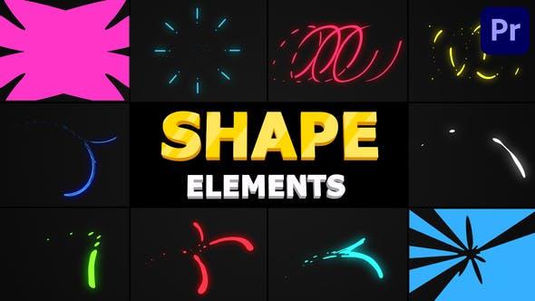 Thumbnail for Flying Shapes   Premiere Pro MOGRT