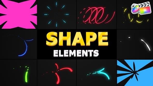 Thumbnail for Flying Shapes | FCPX