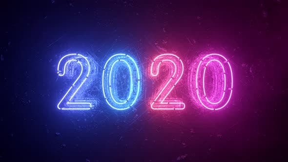 Thumbnail for 2020 Neon Sign Background New Year Concept