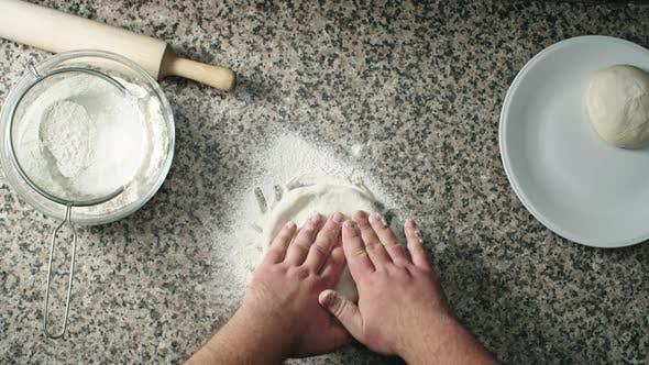 Thumbnail for Kneading Dough on Floured Surface