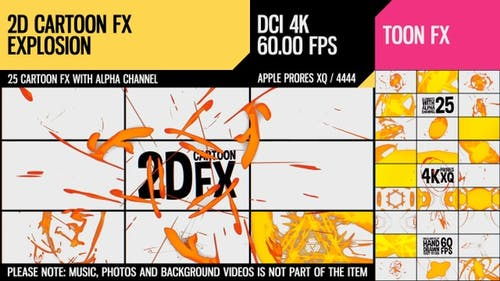 2D Cartoon FX (Explosion Set 15)