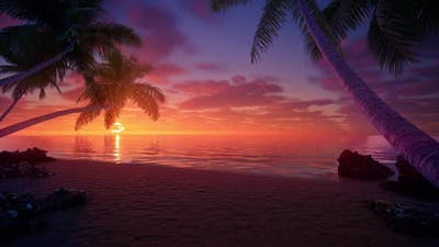 Beach Sunrise HD looped