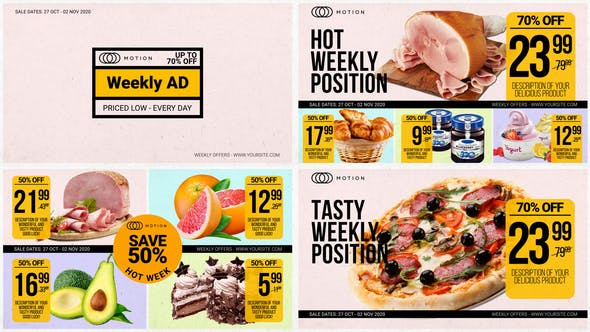 Thumbnail for Weekly Ad - Food Online Promo