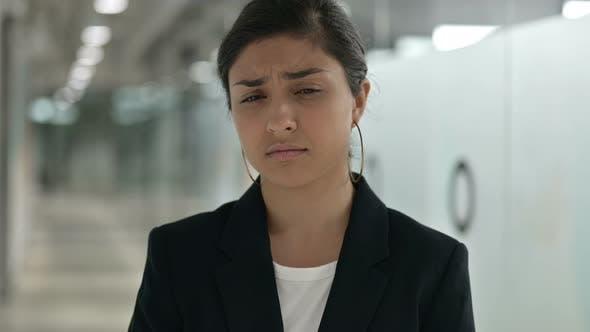 Thumbnail for Worried Indian Businesswoman Feeling Sad, Upset