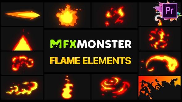 Thumbnail for Flame Elements | Premiere Pro MOGRT