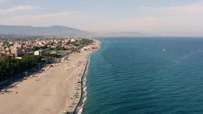 Aerial view of italian coastline