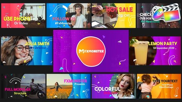 Thumbnail for Presentación de diapositivas de colores | FCPX