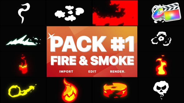 Thumbnail for Fire And Smoke Pack 01 | FCPX