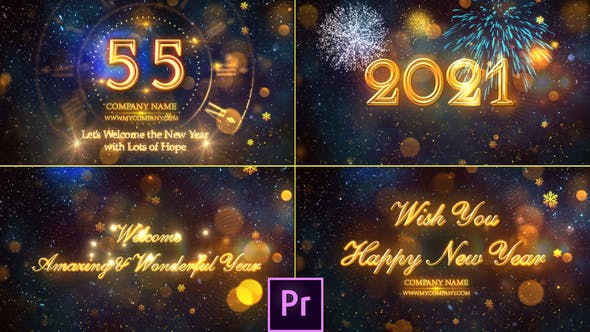 Thumbnail for New Year Countdown 2021 - Premiere Pro