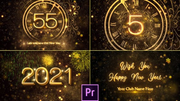 Cover Image for New Year Countdown 2021 - Premiere Pro
