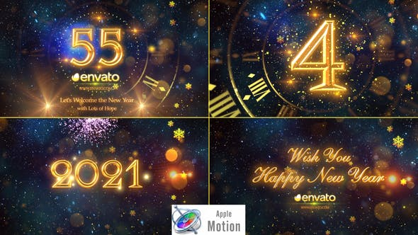 Cover Image for New Year Countdown 2021 - Apple Motion