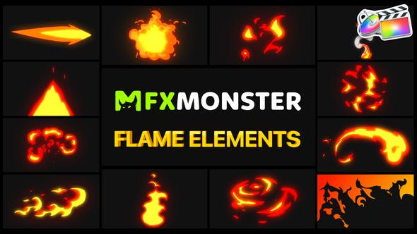 Thumbnail for Flame Elements | FCPX