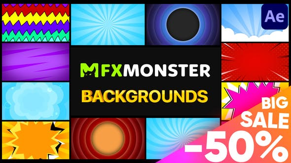 Thumbnail for Backgrounds Pack | After Effects