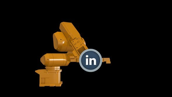 Thumbnail for Robotic Arm and Linkedin Logo