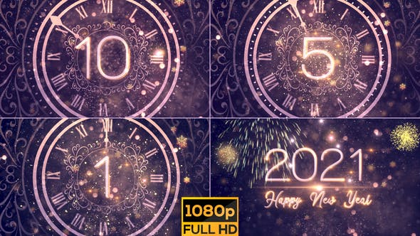 Happy New Year 2021 Blue by StrokeVorkz on Envato Elements