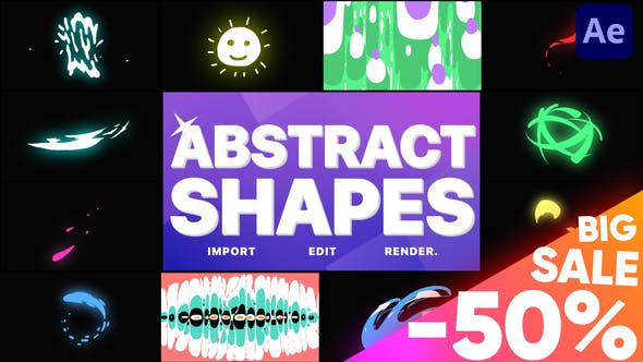 Thumbnail for Abstract Liquid Shapes   After Effects
