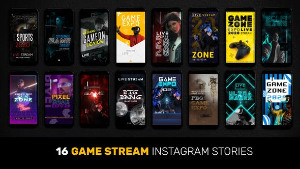 Thumbnail for 16 Game Stream Instagram Stories