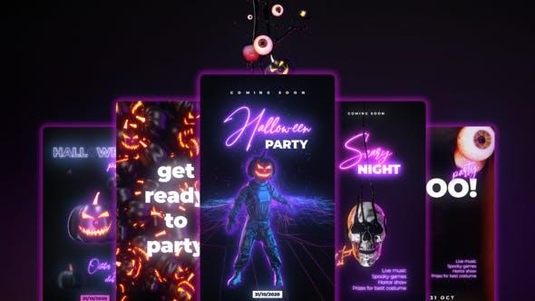 Neon Halloween Stories