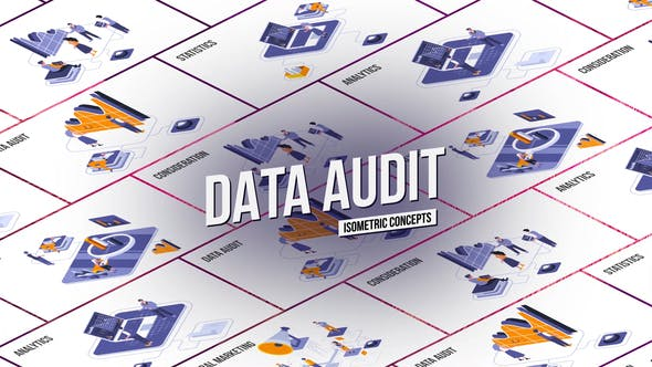 Thumbnail for Data audit - Isometric Concept