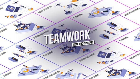Thumbnail for Teamwork - Isometric Concept