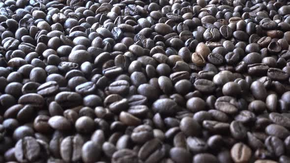 Thumbnail for Close-up Smooth Moving Roasted Coffee Beans