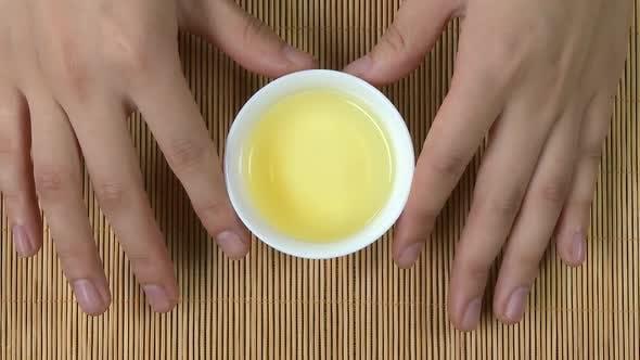 Thumbnail for Green Japanese Sencha Tea In Flowers Mug