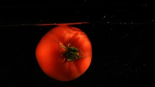 Thumbnail for Tomato In Water Slow Motion