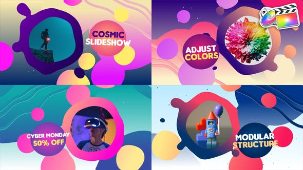 Thumbnail for Liquid Colorful Slideshow | FCPX