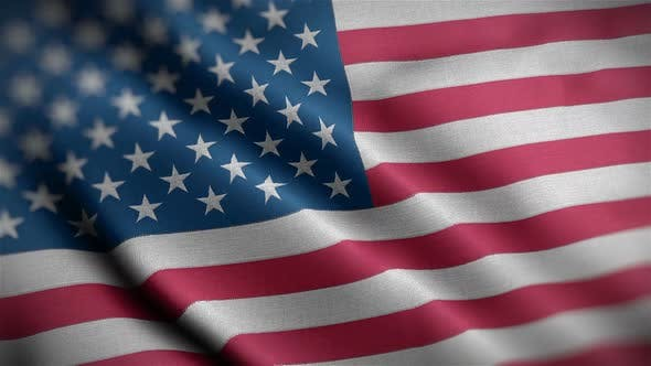 Thumbnail for USA Flag Closeup Blowing In Wind