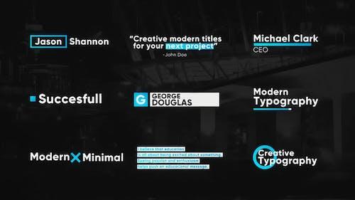 Modern Titles & Lower Thirds
