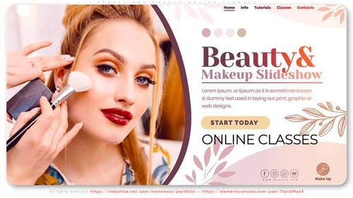 Beauty and Makeup. Online Classes
