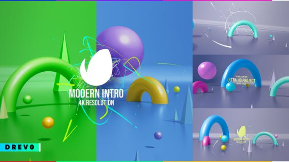 Thumbnail for Modern Intro/ Simple Promo/ 4K 3D Figure/ Bright/ Colorful/ Birthday Party/ APP/ Social Media/ Carto