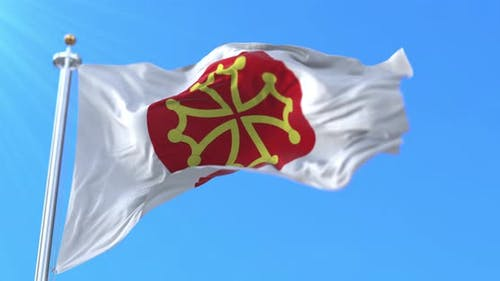 Flag of department of Herault in France