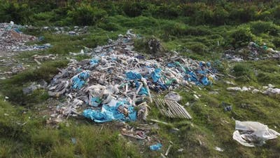 Garbage pollution at open area