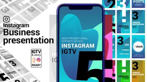 Instagram-Geschichte. Geschäftspräsentation. IGTV und Story bereit.