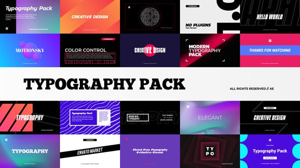 Thumbnail for Stylish Typography Pack | Premiere Pro