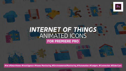 Internet of Things Modern Flat Animated Icons - Mogrt